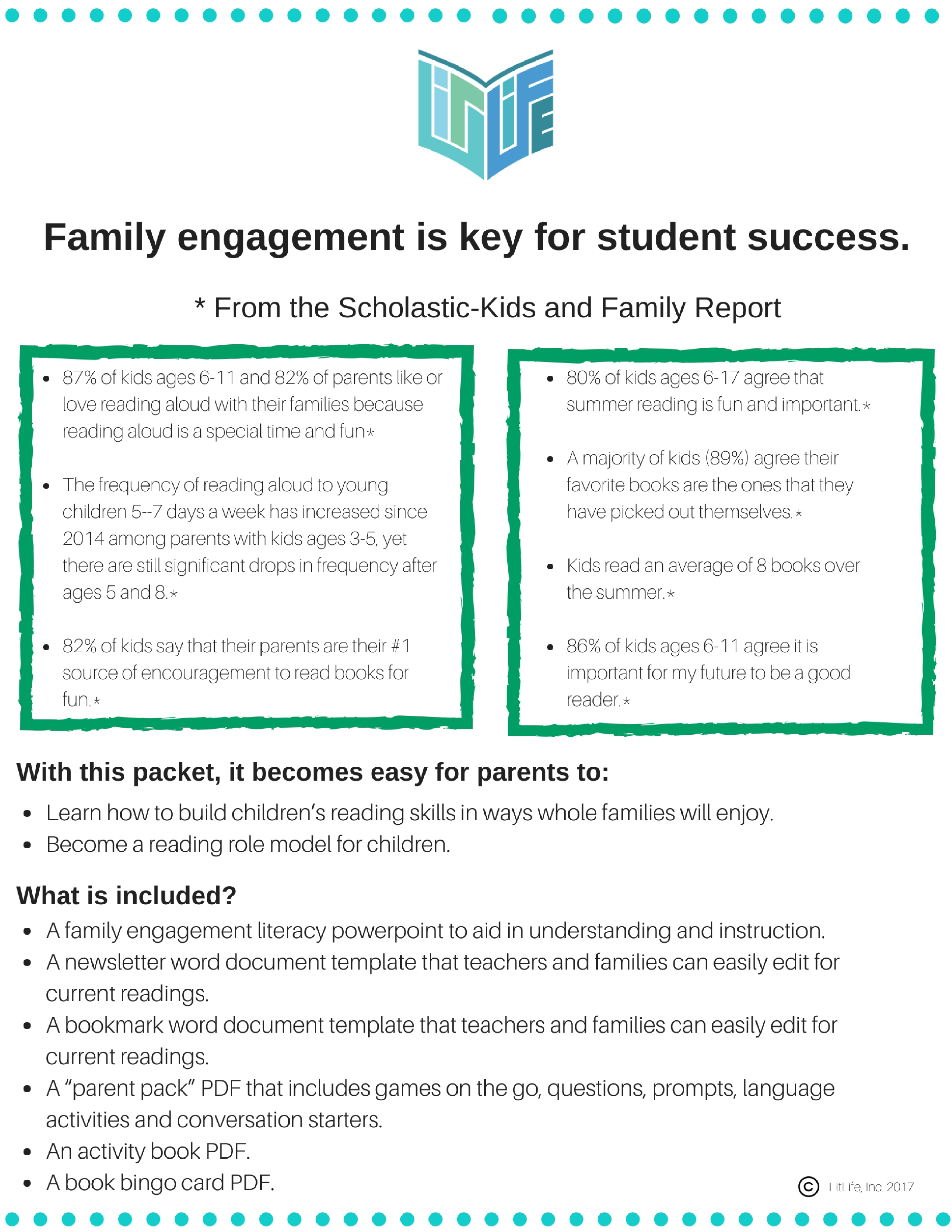 Family Engagement Literacy PDF Package – LitLife